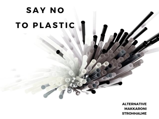 Plastikstrohhalme Nein Danke