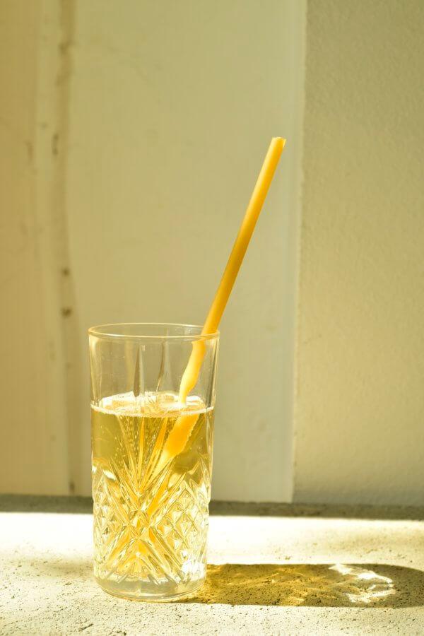 Makkaroni Strohhalm in Champagner einzeln